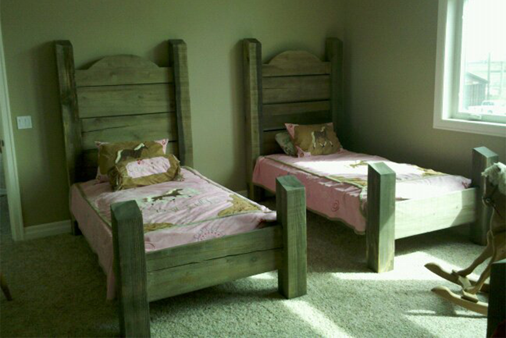 Rustic Twin Beds